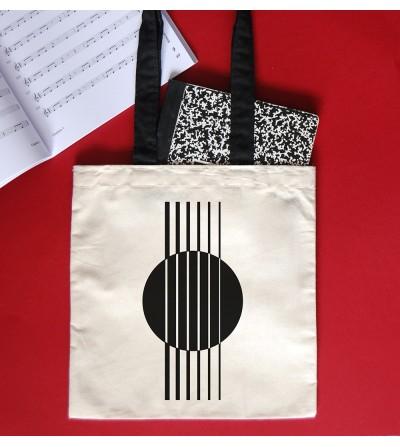 Black handles cotton tote bags Bomba
