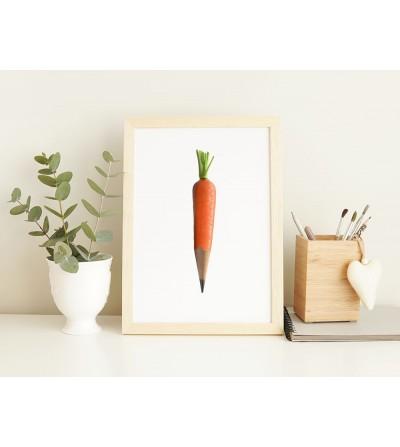 Póster design Carrot pencil A4 matte.