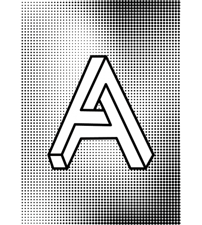 Póster diseño Letra A3