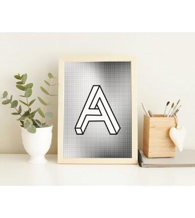 Póster diseño Letra A4