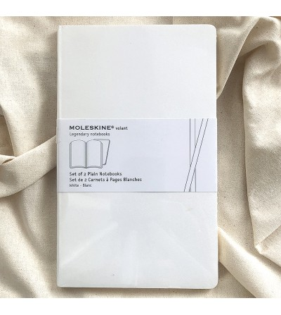 Set of 2 notebooks, soft covers.
