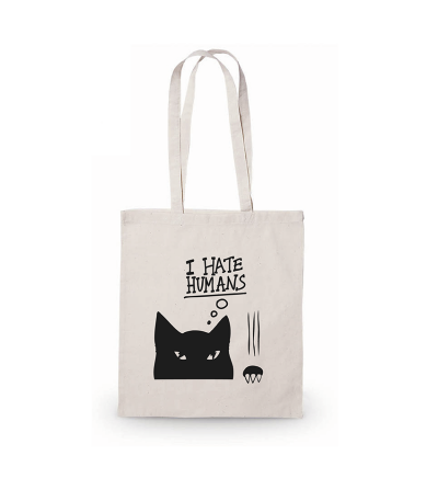 Tote bags cotton long handles cats.