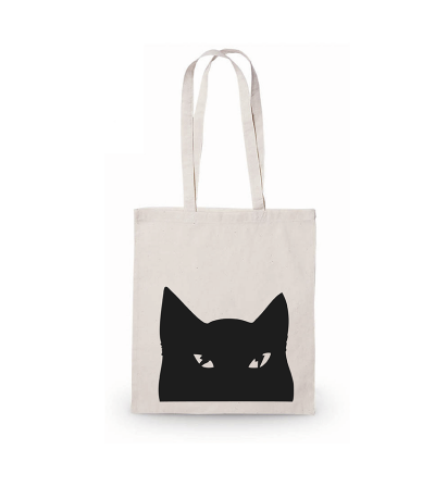 copy of Tote bags cotton long handles cats.
